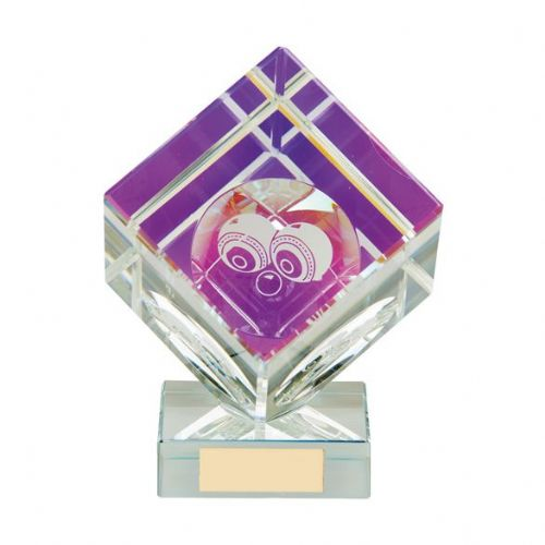 Victorious Lawn Bowls Crystal Cube Award 110mm